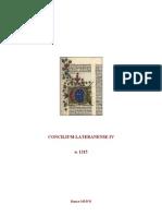 1215-1215, Concilium Lateranense IIII, Documenta (Altera Lectio), LT