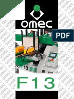 Fresadora automatica de fondos cajones y embalajes Omec F-13