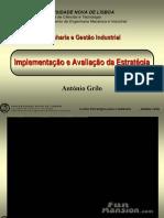 Implementação e avaliação Estratégica