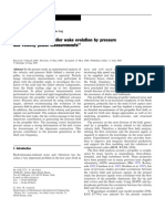 ''Analysis of the propeller wake evolution by pressure
