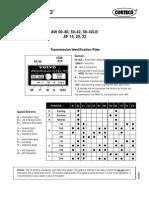 transmision automatica AW 60-40LE manual de despiece y