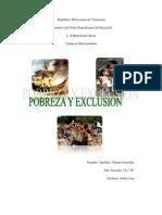Pobreza y Exclusion