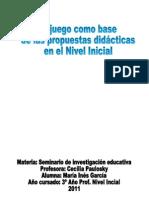 Seminario de Investig Educat El Juego