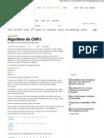 Algoritmo do CNPJ – iMasters