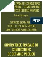 CONTRATO DE TRABAJO DE CONDUCTORES DE SERVICIO PÚBLICO