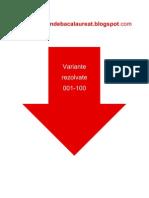 Istorie - Subiectul I - Variante Rezolvate 001-100 - An 2008