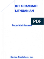 A Short Grammar of Lithuanian (1991)