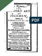 Solomon Turner Ars Notoria the Notary Art of Solomon 1657