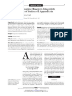 Influence of Histamine Receptor Antagonists
