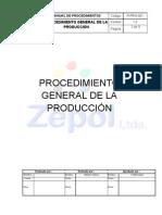 P-PRO-001 Procedimiento general de la producción