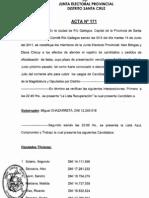 UCR INTERNAS 2011 Actas 171 y 172 Junta Electoral