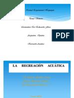 Actividades de Recreacion Acuatica