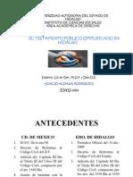 Testamento  Publico Simplificado en Hidalgo
