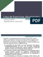 Lista de Exercícios (Atualidades) (08_06)