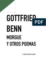 Benn Gottfried - Morgue Y Otros Poemas