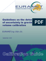 EURAMET-Cg-19-01 Guidelines in Uncertainty Volume