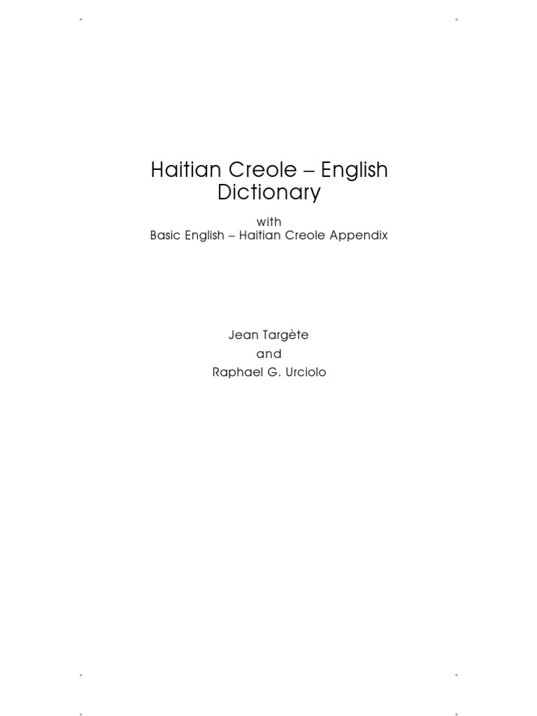 Hatian Creole English Dictionary 2nd Printing | Adjective