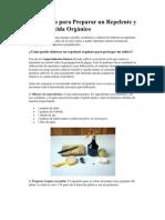 Instructivo para Preparar un Repelente y un Insecticida Orgánico