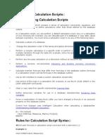 Developing Calc Scripts