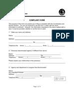 DOJustice Complaint Form