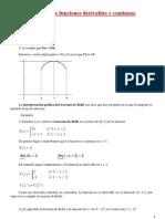 Teoremas de Funciones Derivables y Continuas