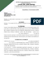 CONSEJO COMUNAL ACTA DE EXCLUSIÓN DE VOCERO