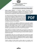 Lista de Postulantes a cargos en el Órgano Judicial de Bolivia