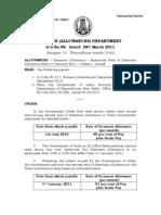 TN Govt 6% DA Go 98 28.03.11 English