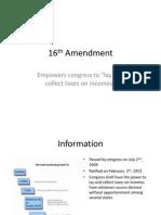 16th and 23rd Amendment