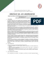 Directiva y Bases Juegos Florales 2011