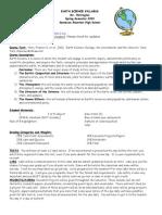 Earth Science Syllabus (1)