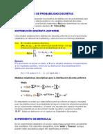 Distribuciones de Probabilidad Discretas