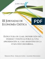 Estructura de clase, dirtribución del ingreso y pol públicas (Féliz, López y Fernández) 2010-JEC