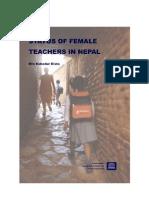 Status of Female Teachers in Nepal