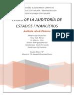 Etapas de La Auditoriab