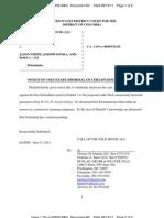 061411 Call of the Wild, LLC v. Does -- Dismissal of Various John Doe Defendants