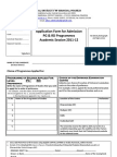 Application Form CUHimachal