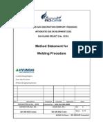 MS for Welding Procedure 1
