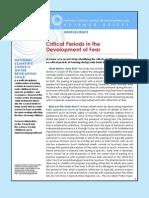 Critical Periods Development Fear