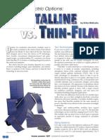Crystalline vs TF