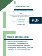 Deregulation of Energy Sector in Nigeria