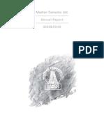 Madras Cements Ltd - Annual Report 2009 -10