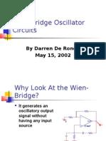 Wein Bridge Oscillators Presentation-Darren