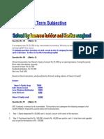 FIN621 Final Term Subjective