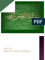 Muscular System Body Cavity and Diaphargm Brig (R) Liaqat Ali Minhas