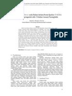 Tegangan Flashover Pada Bahan Isolasi Resin Epoksi (DGEBA)