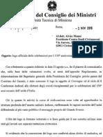 Centro Studi Civitanovesi - Concessione del Logo Ufficiale 150^ dell'Unità d'Italia.