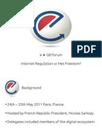 E-G8 Forum Summary