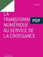 """""""La transformation numérique au service de la croissance"""" par Jean-Pierre Corniou"""