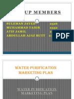 Water Purification Marketing Plan Final